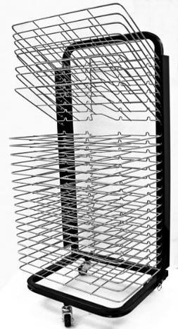 """Inovart Mobile Floor Rack with """"Flip"""" Shelves"""