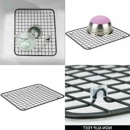 Modern Metal Kitchen Sink Dish Drying Rack / Mat, Grid Desig
