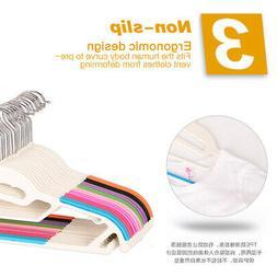 Multi-color Drying Rack Plastic Clothes Hanger Non-slip Prac