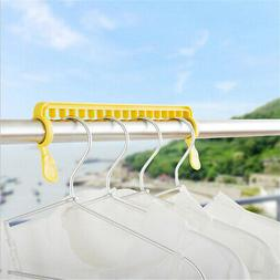 Multi-function Clothes Hangers Drying Clip Hanger Closet Org