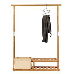 Segarty Multi-Purpose Bamboo Clothing Garment Rack Heavy Dut