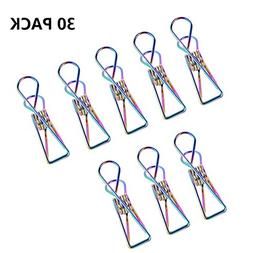 Eabr Pack of 30 PCS Multi-purpose Clothesline Utility Clips,