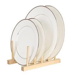 Multi-purpose Wooden Dish Rack Dishes Drying Drainer Storage