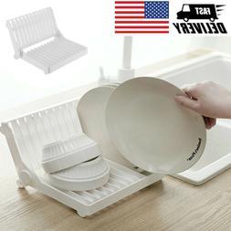 Multifunction Dish Display Holder Foldable Plates Drying Rac