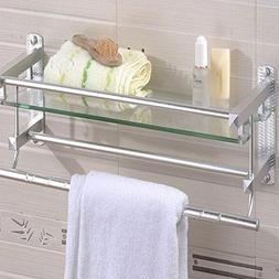 GGGarden Multifunctional Glass Bathroom Shower Shelf Rack Ho