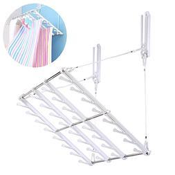 JIAPUSI Multifunctional wall folding clothes drying rack and