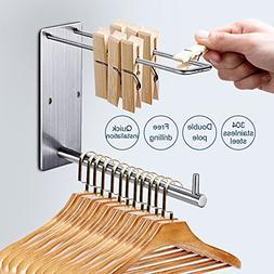 briidea Clothing Multiple Adhesive Hooks, Stainless Steel Ga