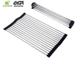 Multipurpose Roll-Up Dish Drying Rack Foldable Premium 304 S