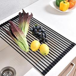 VCCUCINE Multipurpose Roll-Up Dish Drying Rack, Stainless St