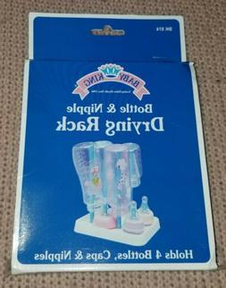 NEW Baby King Bottle & Nipple Drying Rack--Holds 4 Bottles,