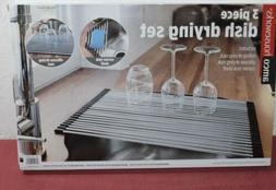 NEW Amco Houseworks 3 Piece Dish Drying Rack Set