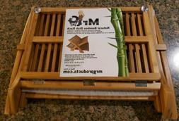NEW TOTALLY BAMBOO NATURAL WOOD DISH RACK 100% BAMBOO SAFE E