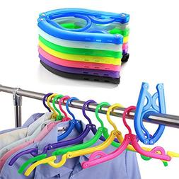 Yiuswoy Pack of 10 Non-slip Clothes Shirts Sweaters Dress Cl