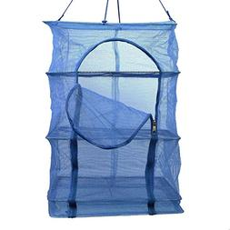 3 Layer Non-toxic Nylon Netting Collapsible Mesh Hanging Dry