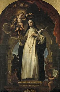 Oil Painting 'Coello Claudio Santa Rosa De Lima 1683 ' Print