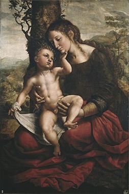 Oil Painting 'Hemessen Jan Sanders Van Virgin And Child 1543
