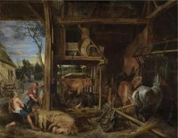 Oil Painting 'Peter Paul Rubens,The Prodigal Son,1577-1640'