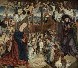 Oil Painting 'Adoration Of The Shepherds By Aelbert Bouts' P