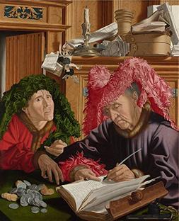 Oil Painting 'Marinus Van Reymerswaele Two Tax Gatherers ' P