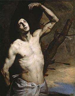 Oil Painting 'Ribera Jose De Saint Sebastian 1636 ' Printing