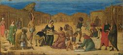 Oil Painting 'Ercole De' Roberti The Israelites Gathering Ma