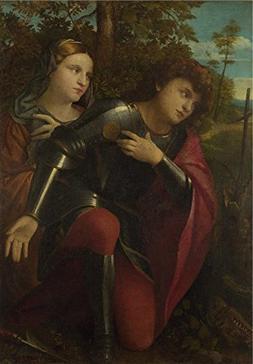 'Palma Vecchio Saint George And A Female Saint ' Oil Paintin