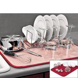 The Orignal Dish Drying Mat XL - Microfiber Absorbent Machin