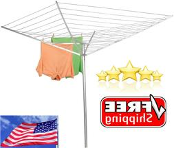 Outdoor Clothesline Dryer Laundry Umbrella Hanger Drying Rac