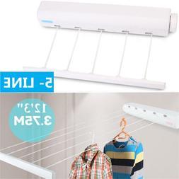 Outdoor Indoor Retractable 5 Line Clothesline Laundry Dryer