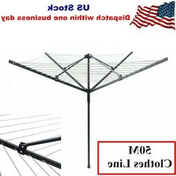 Outdoor Rotary Clothesline Foldable Umbrella Clothes line Dr