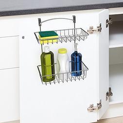 Over The Cabinet Kitchen Storage Organizer- 2 Tier Basket Sh