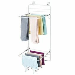 Over The Door Cloth Drying Rack Laundry Room Dry Shelve Stor