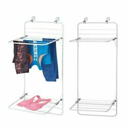 mDesign Over Door Clothes Drying Rack for Laundry Room
