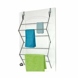 Over The Door Clothes Towel Dryer Hanger Rack Laundry Indoor