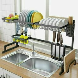 Over Sink Dish Cutlery Drying Rack Drainer Stainless Steel K