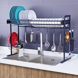 Over Sink Dish Drying Rack Stainless Steel Cutlery Drainer K