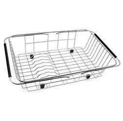 GTHUNDER Over Sink Drying Rack Stainless Steel Sink Dish Rac
