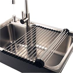 Stainless Steel Roll Up Sink Dish Drainer , 16''L x 18.5