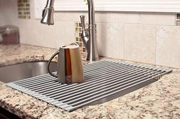 MOHICO Dish Rack Roll-up Dish Drying Rack Stainless Steel Ov