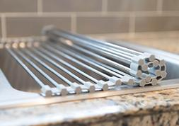 Over the Sink Multipurpose Roll Up Dish Drying Rack
