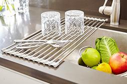 """iEnjoyware Over the Sink Roll-Up Dish Drying Rack - 21""""L x"""