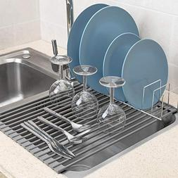 iPEGTOP Over The Sink Roll-Up Dish Drying Rack Multipurpose