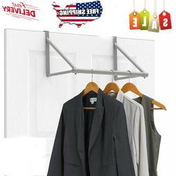 Over The Door Closet Rod Garment Rack Dry Clothes Organizer