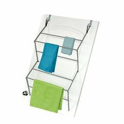 Homz Over-the-Door Towel and Garment Drying Rack, Metal, Sil