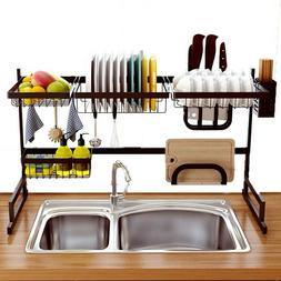 Over The Sink Dish Drying 85cm Rack Shelf Stainless Steel Ki
