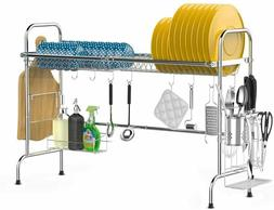Over the Sink Dish Drying Rack, iSPECLE 2-Tier Large 201 Sta