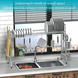 Over the Sink Dish Drying Rack, iSPECLE Premium 201 Stainles