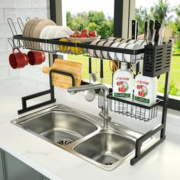 Over The Sink Dish Drying Rack, Stainless Steel Kitchen Sink