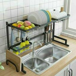 Over The Sink Dish Drying Shelf Stainless Steel Cutlery Hold