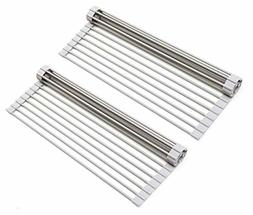 Over The Sink Multipurpose Roll-Up Dish Drying Rack  - 2 Pac